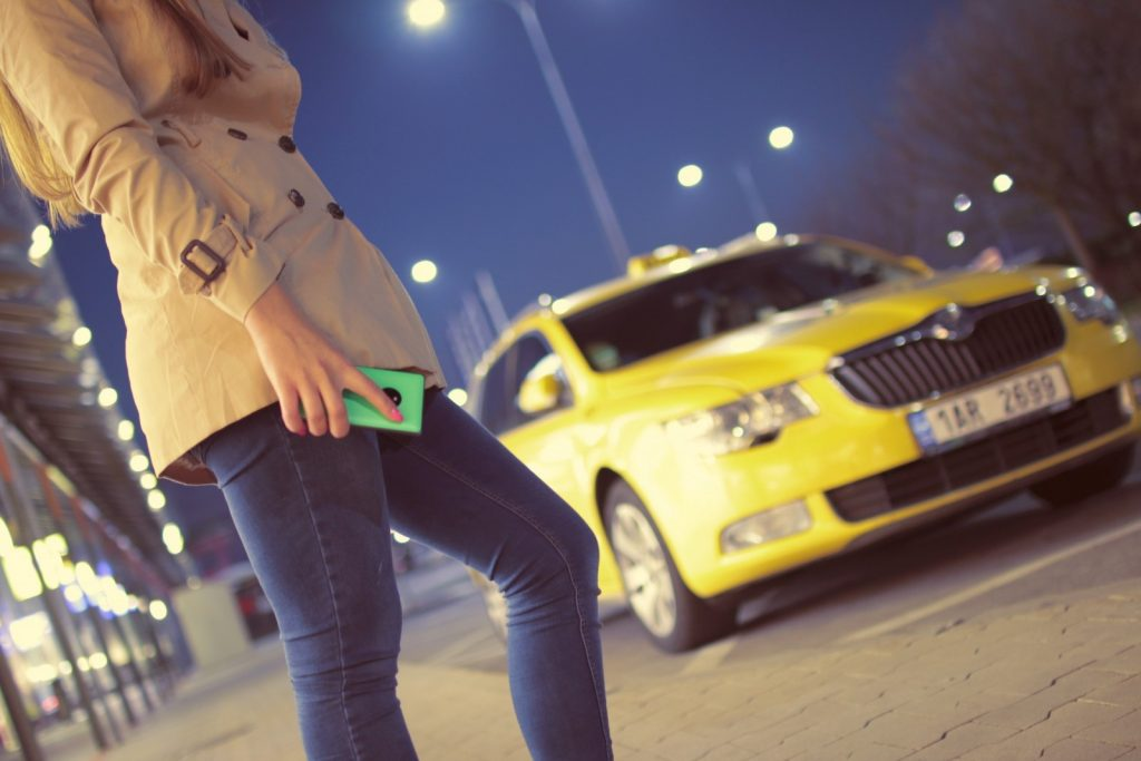 taxi-cab-car-woman